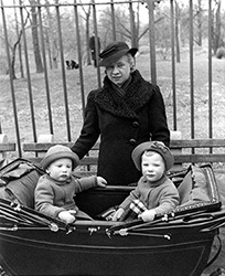 In our double carriage with Pat, Central Park, 1940.